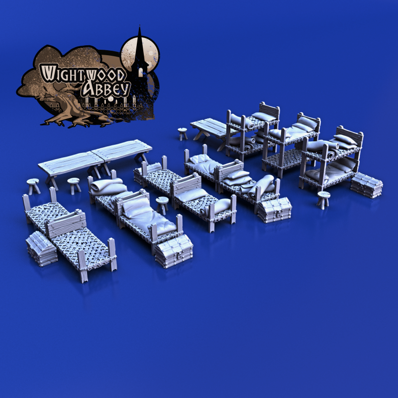 3D printable dormitory furniture