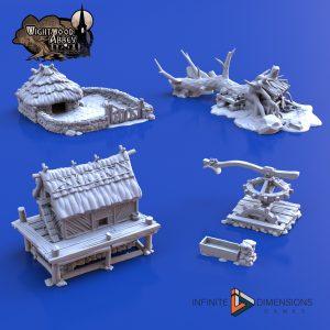 3D printable medieval farming terrain